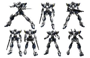 ARX-7 Arbalest -poses- by Illsteir