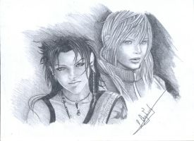 Final fantasy 13 : fang and lightning by ShizuneRu