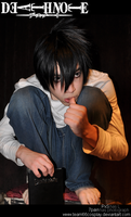 Death note L cosplay by Team66cosplay