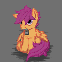 Sad Scoots by captainggkitten