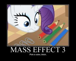 Rarity Plays Mass Effect 3 by Cambalt