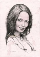 Thandie Newton by dh6art