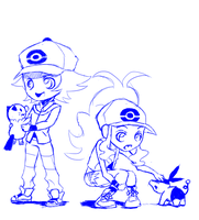 Pokemon sketch by Shiningpaladin