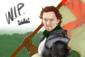 Tom Hiddleston - Henry V - W.I.P. by Marsaliath