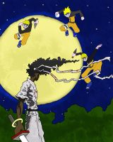 Afro vs Naruto Clones by MrStevenTaylor