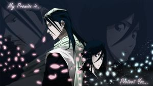 Byakuya and Rukia by All0412