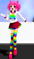 mmd weaboo girl model+DL by Green-Fighter