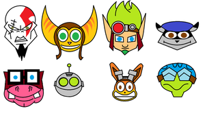 Playstation Heroes Icons by The1stMoyatia
