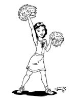 Cheer Snow White_inks by tombancroft