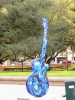 Starry Guitar, only in Austin. by Christianonfire7