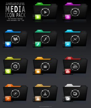 Media Icon Pack by Remitrom73
