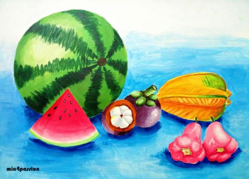 Still Life (Fruits) by mix4passion