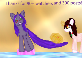 90 watchers special and 300th post by WoefulWriters
