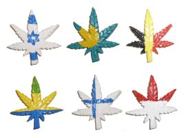 Flags of the World Cannabis Leaves Part 3 by aberrantceramics