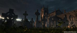 Appleby Graveyard evening by svenart
