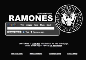 The Ramones Startpage by AwesomeStart