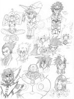 Bubblegum Empire characters 3 by nork