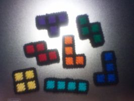 Standard Color Tetris Magnets by AprilMoonshine