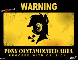 Pony Contaminated Area by wolfjedisamuel