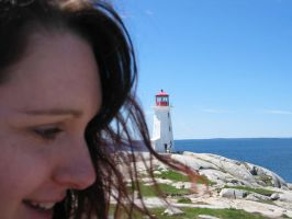 Jessica infront of Lighthouse by Wedgewenis