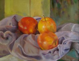 Still Life with Tres Manzanas by sandreezy