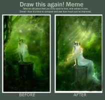 Draw this again- forest sprite by Elf-in-mirror
