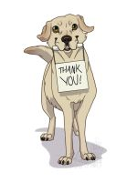Labrador Thank You by Falcolf