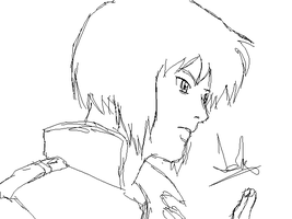 Random SpeedSketch - Motoko by Tokratan