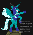 Ponified Skyrim loading screen: Frost Alicorn by glue123