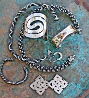 Various Celtic Jewelry by ou8nrtist2