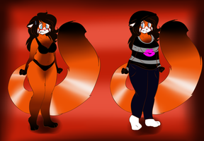 Michy Red Panda full reference by snooziewoo