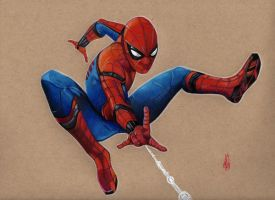 SPIDERMAN HOMECOMING by ARTIEFISHEL79