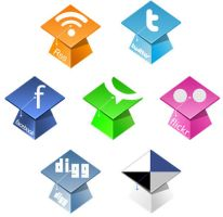 Graduation Hats Social Icons by NatalyBirch