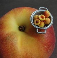 1:12 Scale Peaches by fairchildart