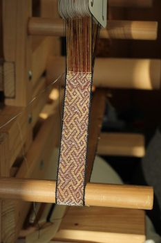 Tablet woven border of the Cloak from Roger II by aislingde