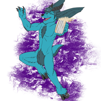 Commission - Prancing BLUE by Kaito-Fletcher