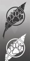 Paw Feather Decals by RKTDWG