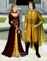 Elizabeth of York and Henry VII by kaybay2323
