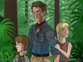Jurassic Park // Alan, Lex and Tim by Luxris