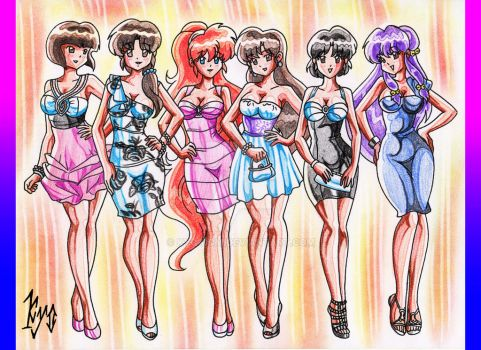 Ranma Girls, Ready To Party! by kyo-domesticfucker