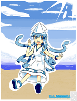 Ika Musume - The clumsy Invader -  (Mspaint) by ZeroKohaku950