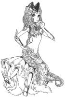 League of Legends Siren Cassiopeia skin by zelphie00