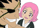 Kenpachi and Yachiru by AkatsukiBridesmaid