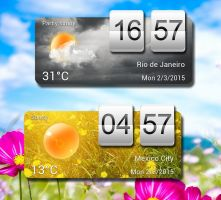 Cool Flip Weather Widget for xwidget by jimking