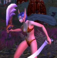 Blood Elf Female 63 - Ashenvale Forest by solarnova1101