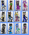 my friends some sonic chars. by greydeer