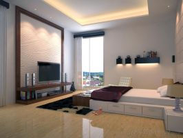 Modern Bedroom (other angle) by gretan