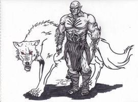 Azog The Defiler and his white Warg by AudioHomicide