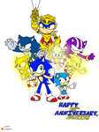 Sonic's 24th Anniversary by G-Bomber