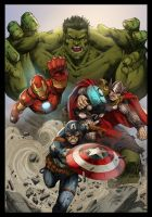 Commission Avengers Colors by MARCIOABREU7